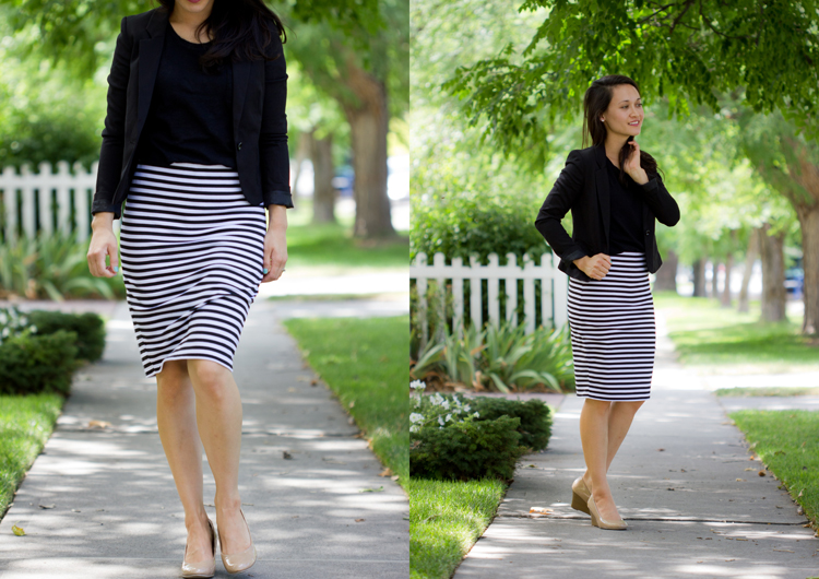 Knit Pencil Skirt Pattern Re-Mix - Delia Creates
