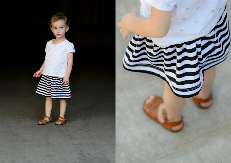 Girls Basic Flexible Waist Skirt - FREE PATTERN! - Delia Creates