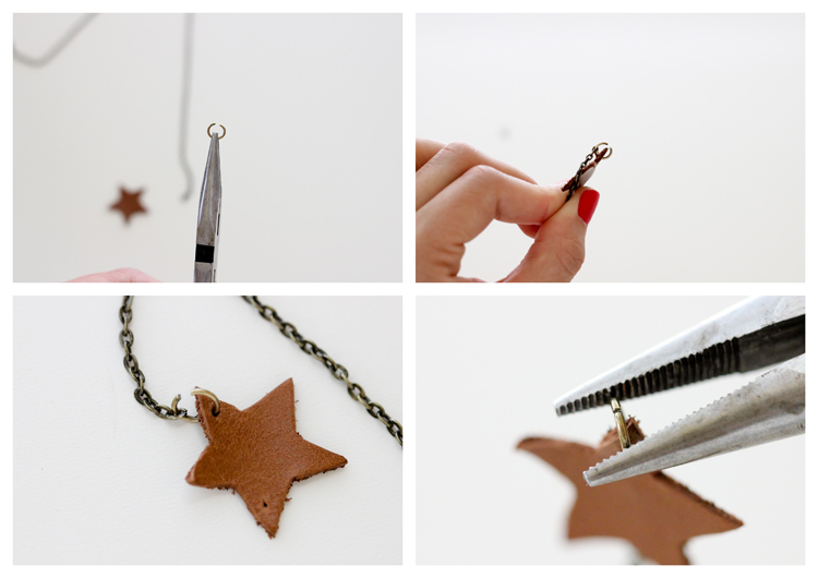 DIY Simple Leather Necklace - Delia Creates