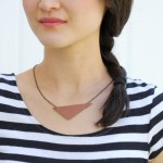 DIY Simple Leather Necklace TUTORIAL