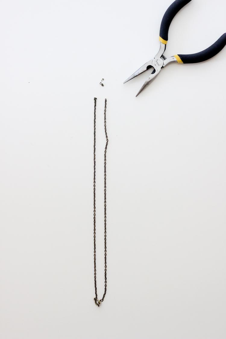 DIY Simple Leather Necklace - Delia Creates