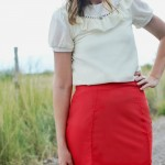Pleated Pencil Skirt Pattern Re-Mix with A Lemon Squeezy Home