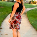Pleated Pencil Skirt Pattern Re-Mix with Caila Made