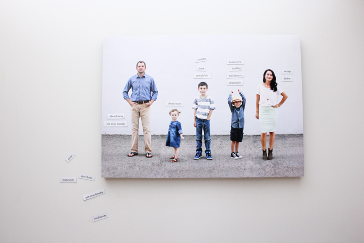 Photo Family Chore Board - Delia Creates