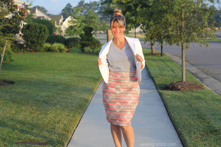 Pleated Pencil Skirt Re-mix with The Sewing Rabbit - Delia Creates