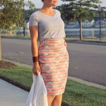 Pleated Pencil Skirt Re-mix with The Sewing Rabbit