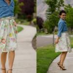 Gathered Skirt Pattern Re-Mix Tutorial