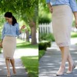 Lace Knit Pencil Skirt Pattern Re-Mix Tutorial