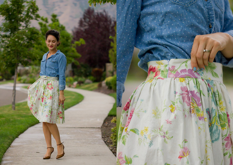 Basic Gathered Skirt  Pattern Re-Mix - Delia Creates