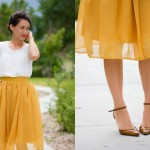 Chiffon Gathered Skirt Pattern Re-Mix Tutorial