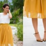 Chiffon Gathered Skirt Pattern Re-Mix Tutorial