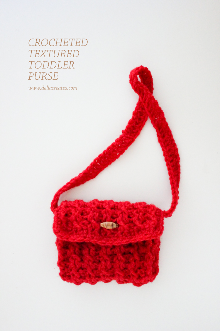 Toddler Crochet Purse Pattern : Crocheted Textured Toddler Purse ? FREE Pattern