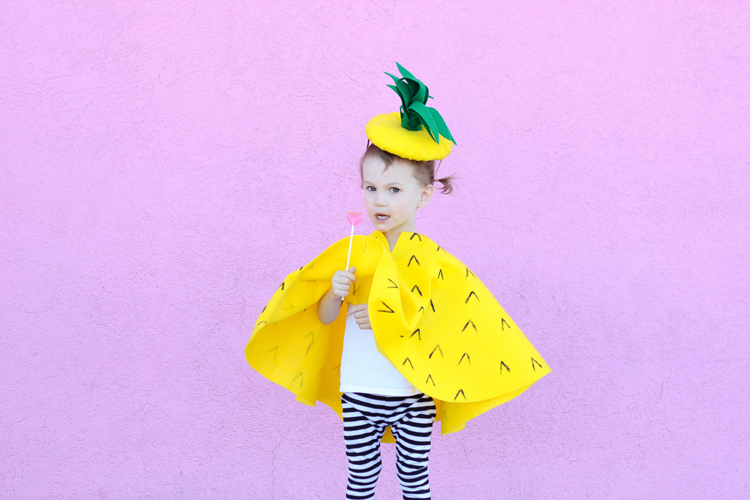 Easy No-Sew Pineapple Costume - Delia Creates