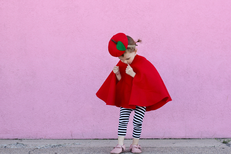 Easy No-Sew Apple Costume - Delia Creates