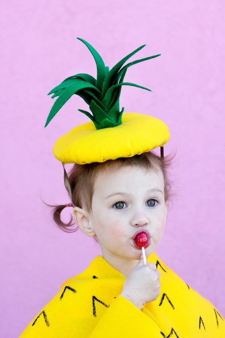 Easy No-Sew Pineapple Costume - Delia Creates