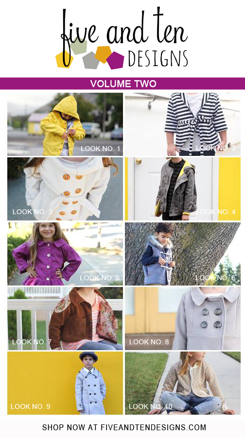 5 & 10 Designs Volume 2    Jacket Edition - make ten jackets from one pattern!