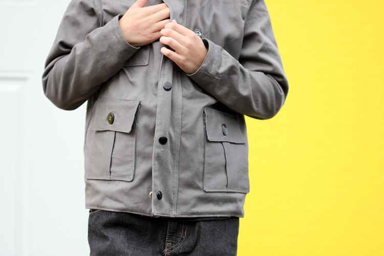 5 & 10 Designs Jacket Pattern E-book - make 10 looks from one pattern! ...This jacket is look 4, the zipped up jacket.