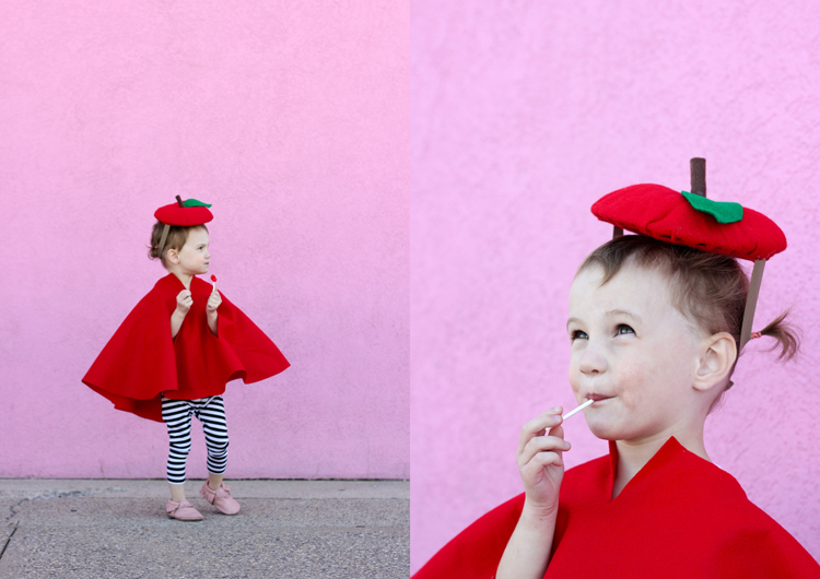 Easy No-Sew Apple Costume - Delia Creates