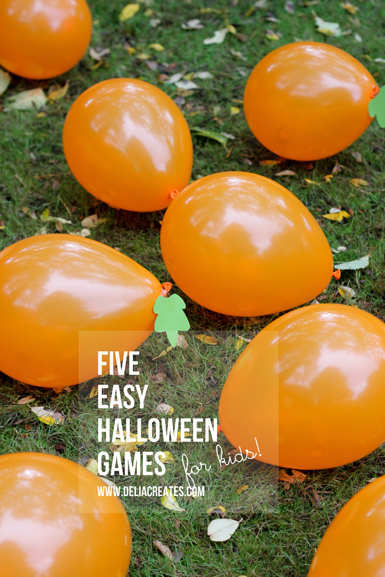 Five Easy Halloween Games For Kids // Delia Creates