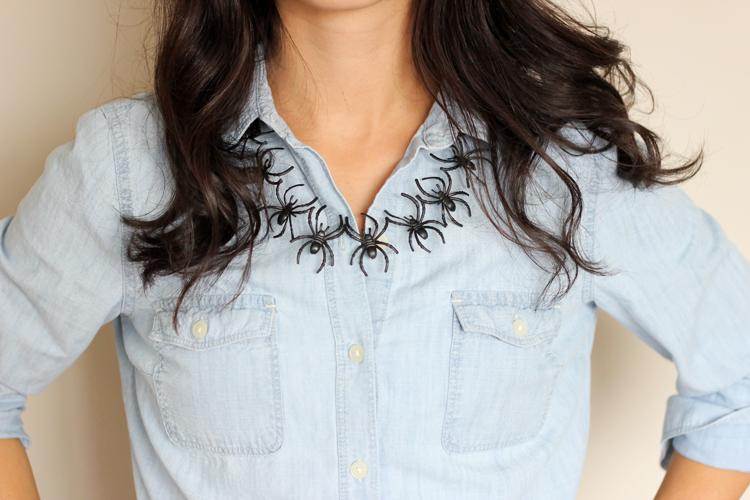 Halloween Spider Necklace // Delia Creates