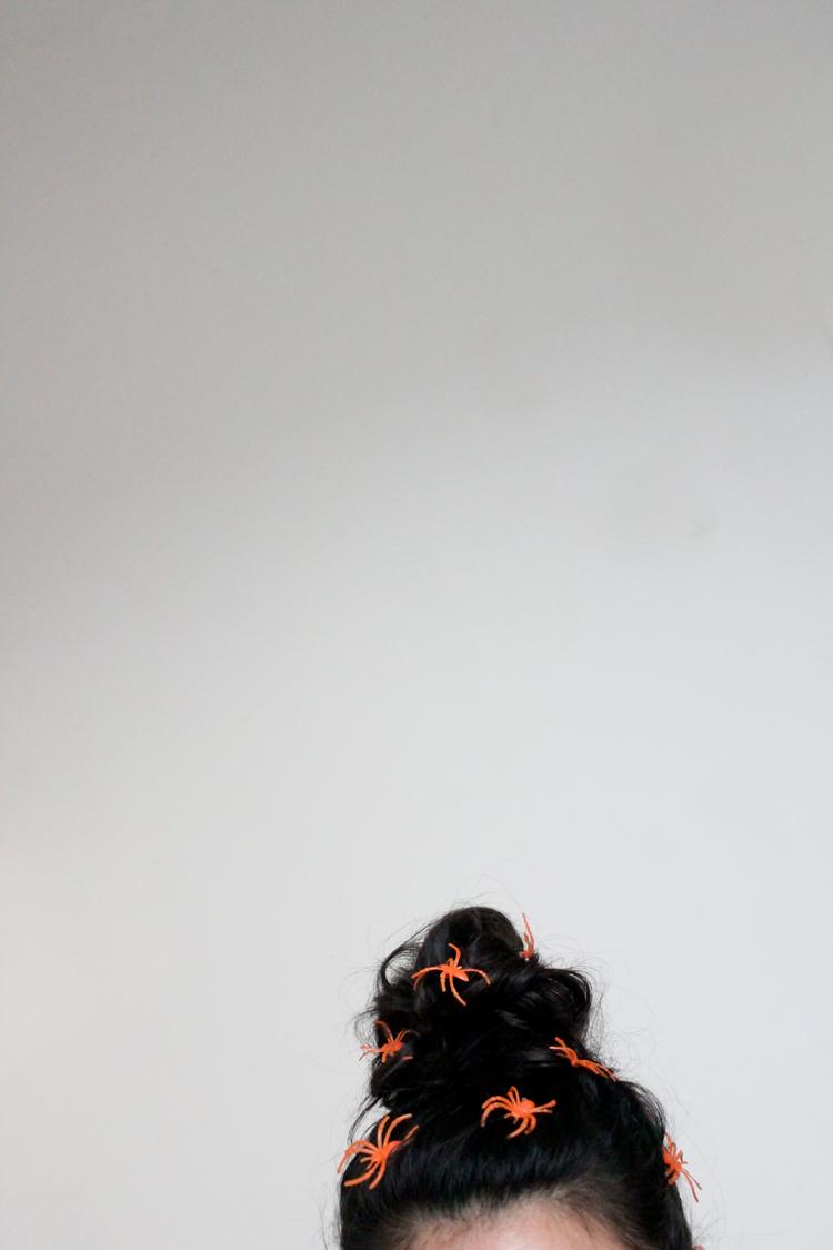 Halloween Spider Hair Pins // Delia Creates