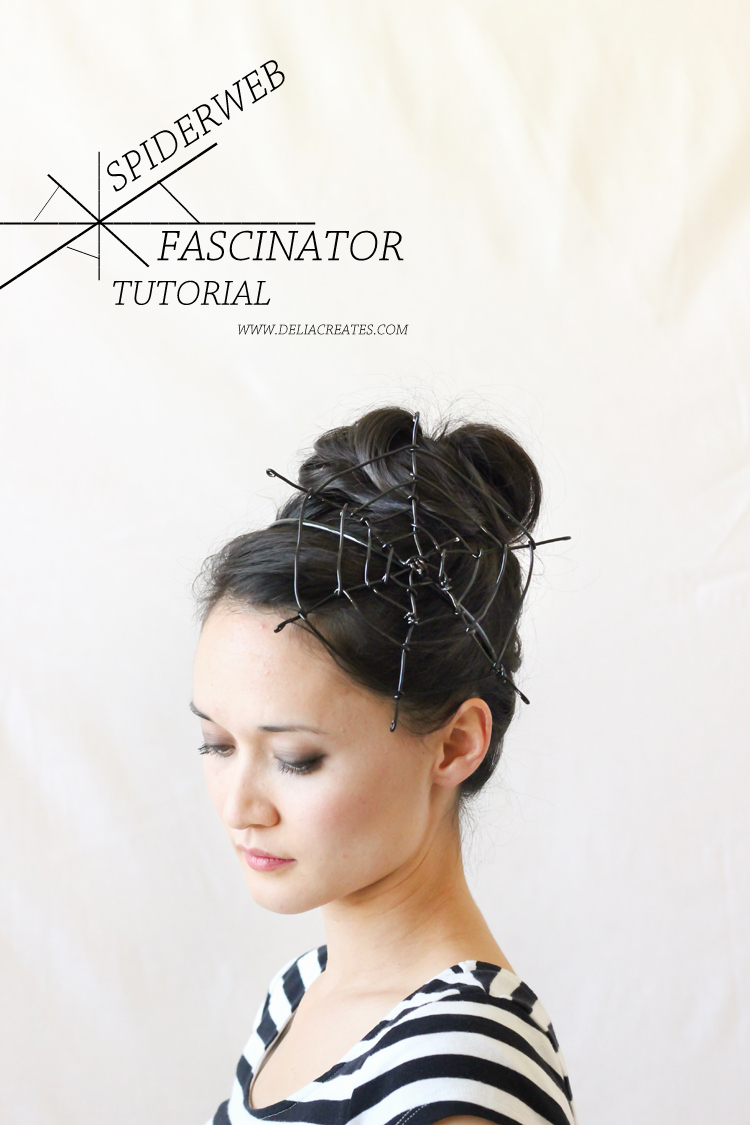 DIY wire spiderweb fascinator (Delia Creates)