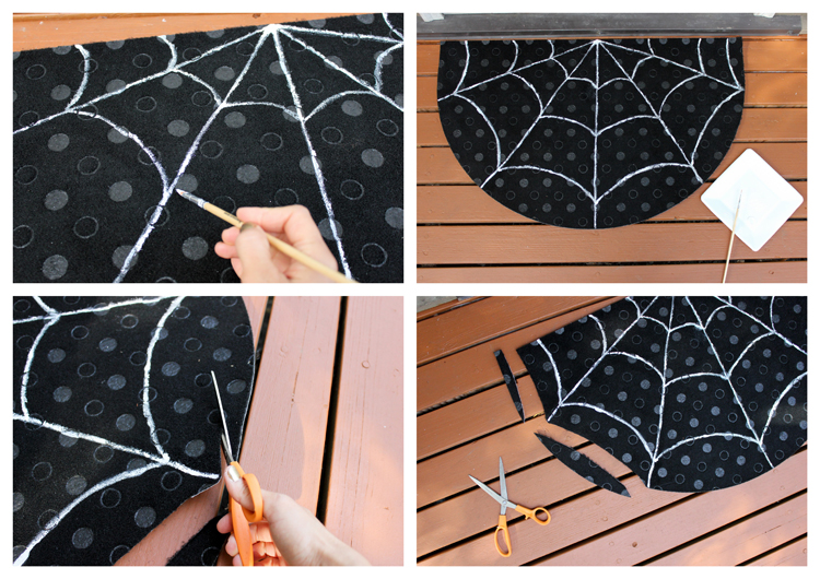DIY Spiderweb Doormat (Delia Creates)