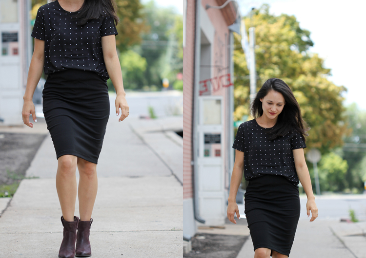 Knit Pencil Skirts - my favorite fast, easy sew! (Delia Creates)