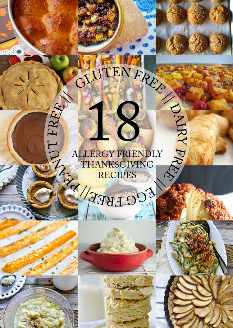 18 Allergy Friendly Thanksgiving Recipes - Gluten, dairy, egg, and peanut FREE! // Delia Creates