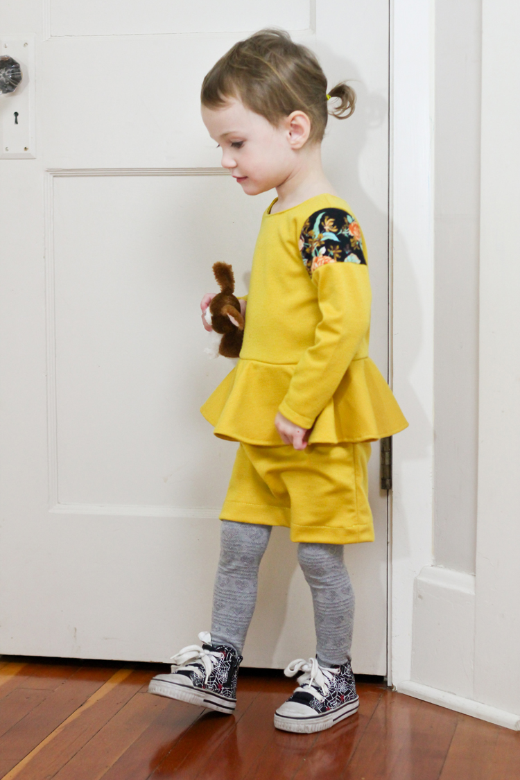 Yellow Peplum Dress // Delia Creates