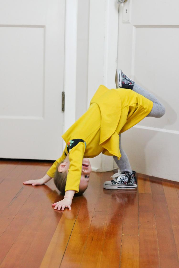 Yellow Peplum Dress // Delia Creates