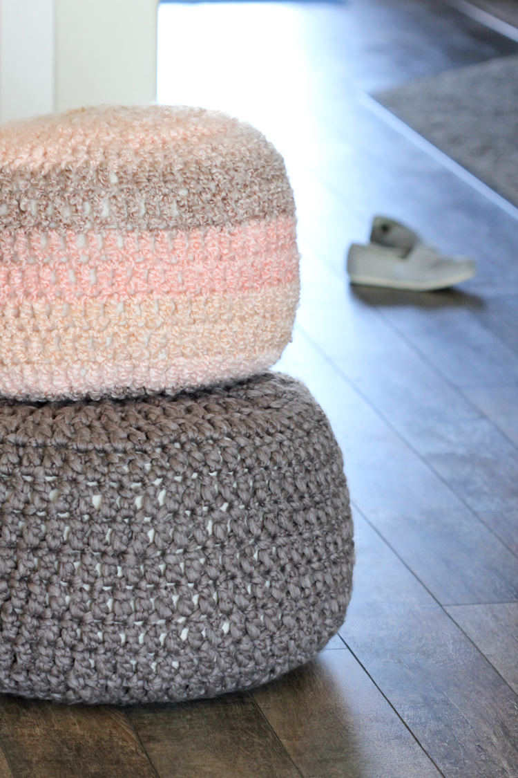 Crocheted Floor Cushions - Free pattern & Tutorial // Delia Creates