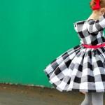 Black & White Plaid Holiday Dress