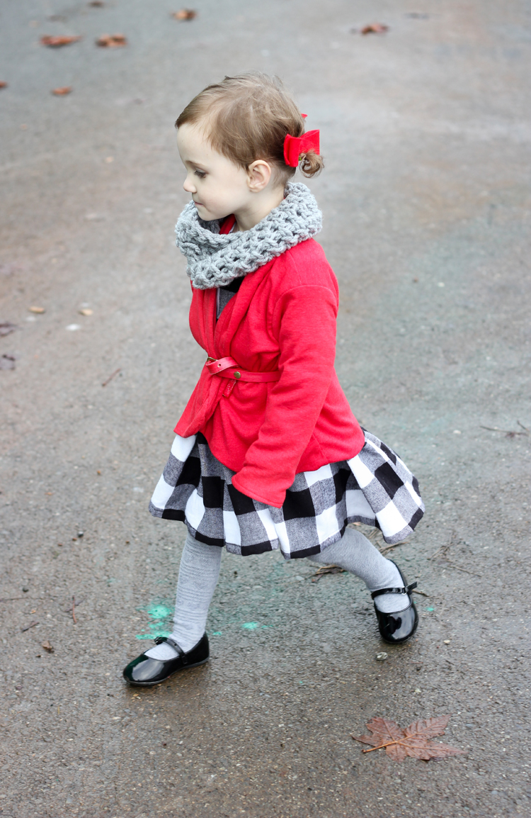 Black and White Plaid Holiday Dress // Delia Creates