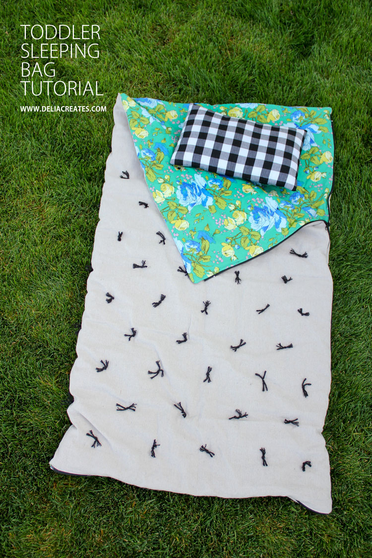 DIY Toddler Sleeping Bag TUTORIAL // Delia Creates