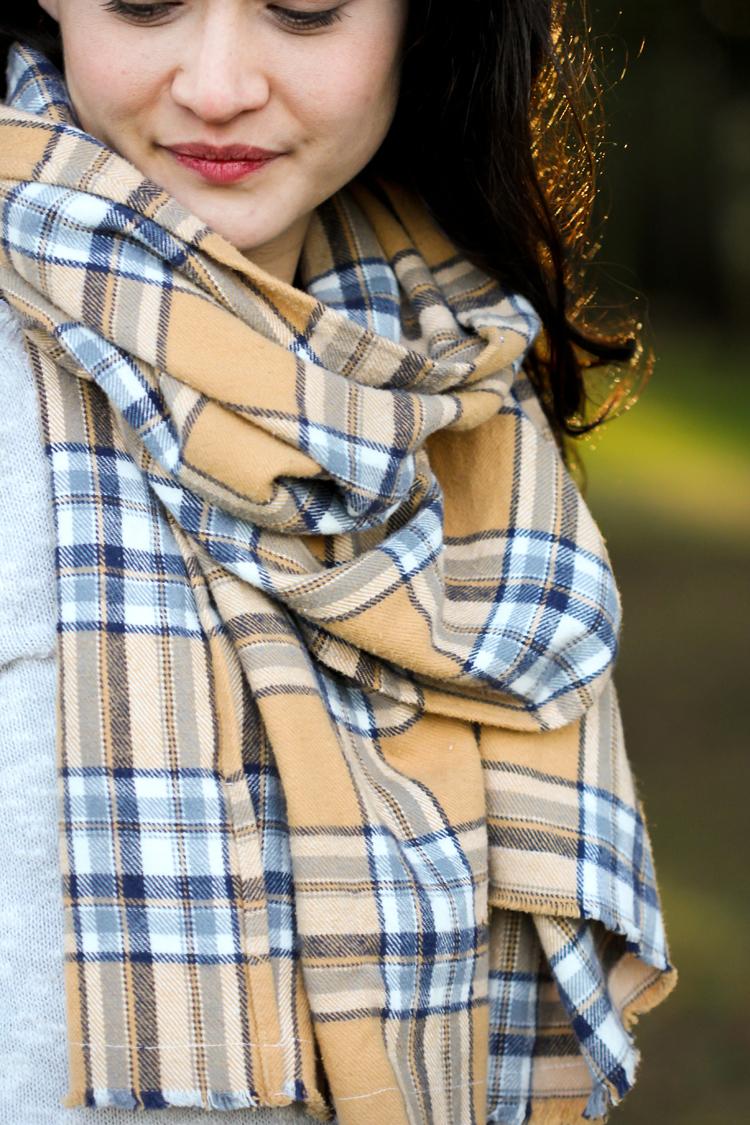 Cozy DIY Flannel Scarves