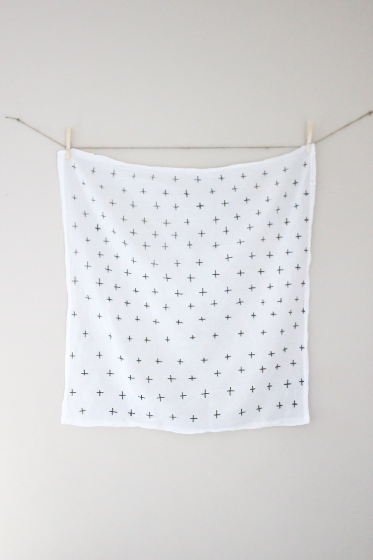 DIY Flour Sack Towels // Delia Creates