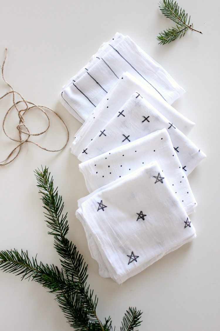 DIY Flour Sack Towels // Delia Creates