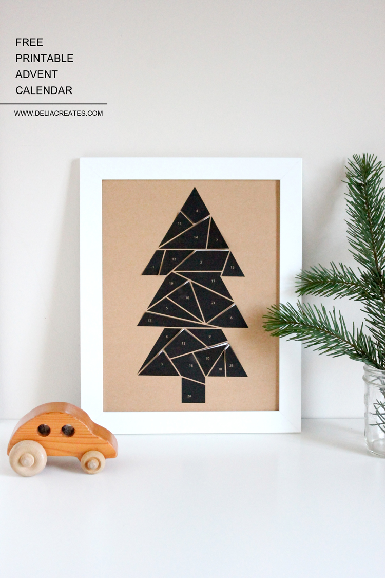 Free Printable Advent Calendar // Delia Creates
