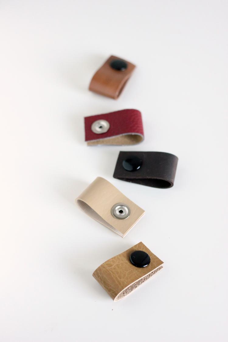 DIY Leather Cord Organizers // Delia Creates