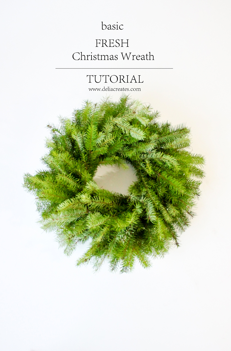 Basic Fresh Christmas Wreath Tutorial // Delia Creates