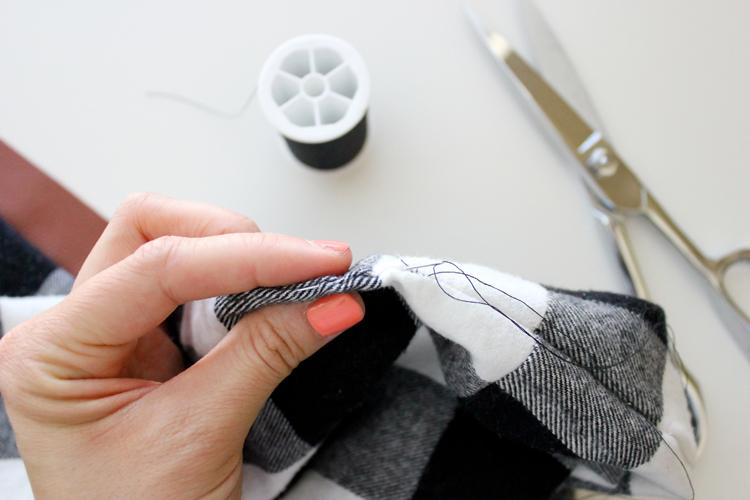 DIY Leather + Flannel Snap Scarf Tutorial // Delia Creates