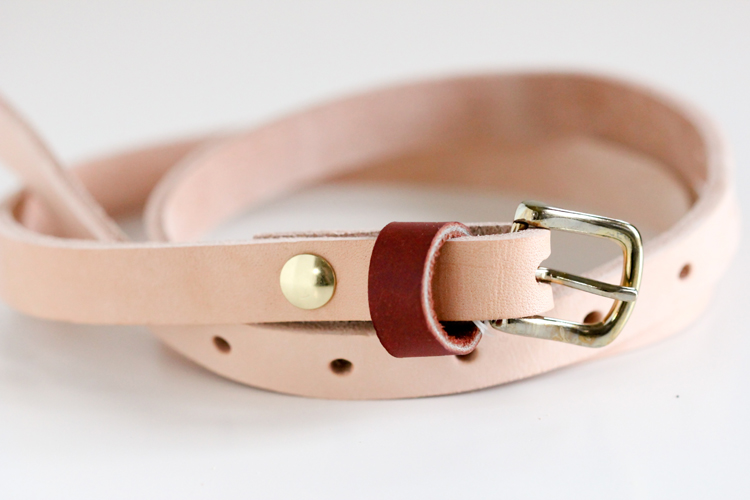 Leather belt DIY tutorial // Delia Creates
