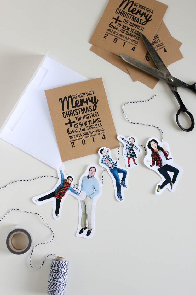 Family Bunting Christmas Card // Delia Creates