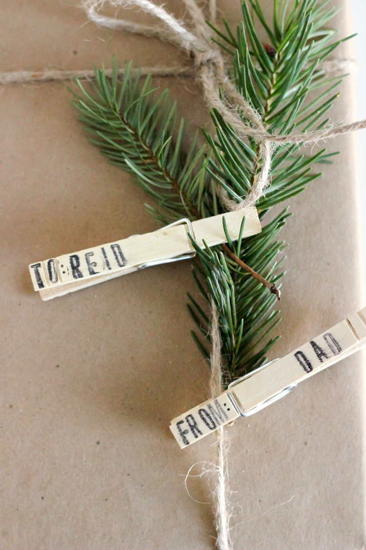 Clothespin Gift Tags // Delia Creates