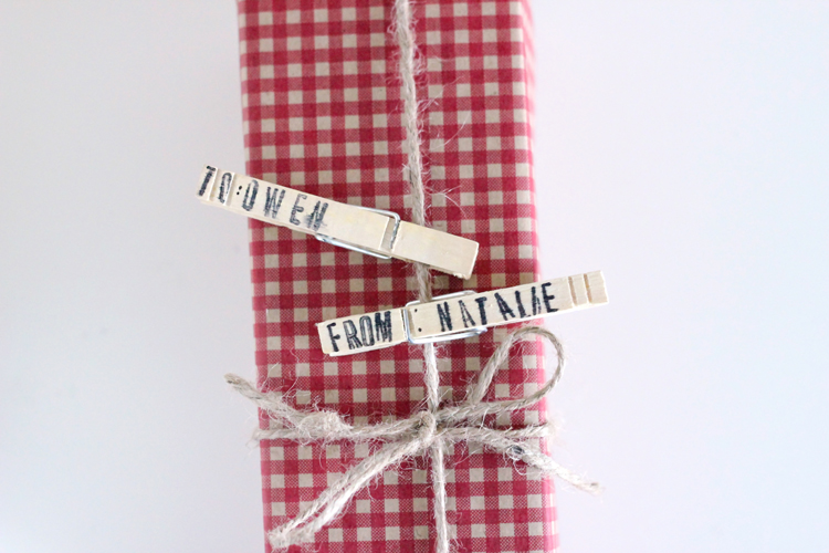 Clothespin Gift Tags // Delia Creates