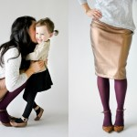 Copper Pencil Skirt and Baby Shoes + GIVEAWAY