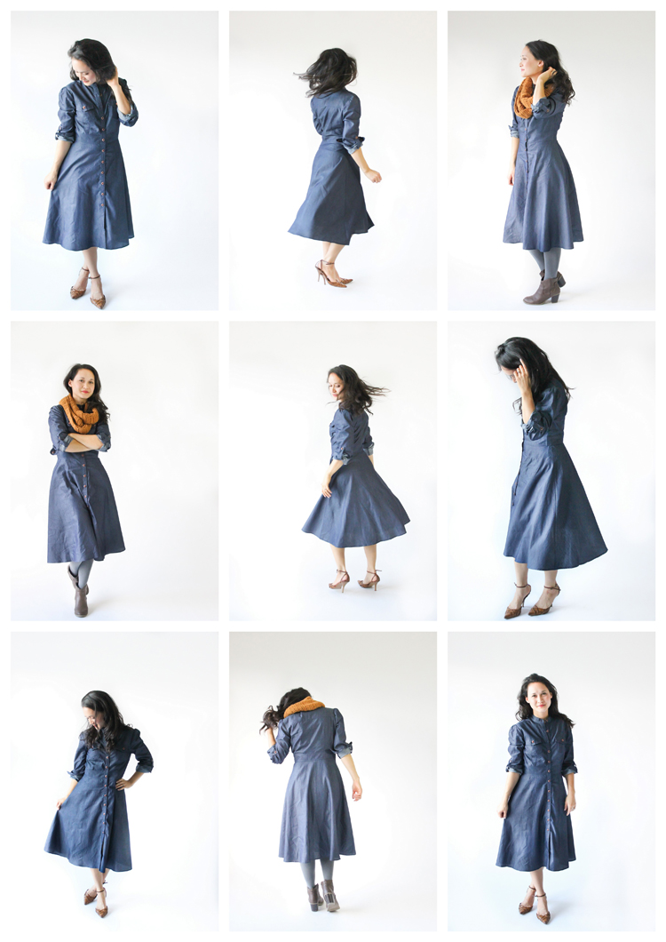 Denim dress by eShakti - win a dress of your choice at www.deliacreates.com