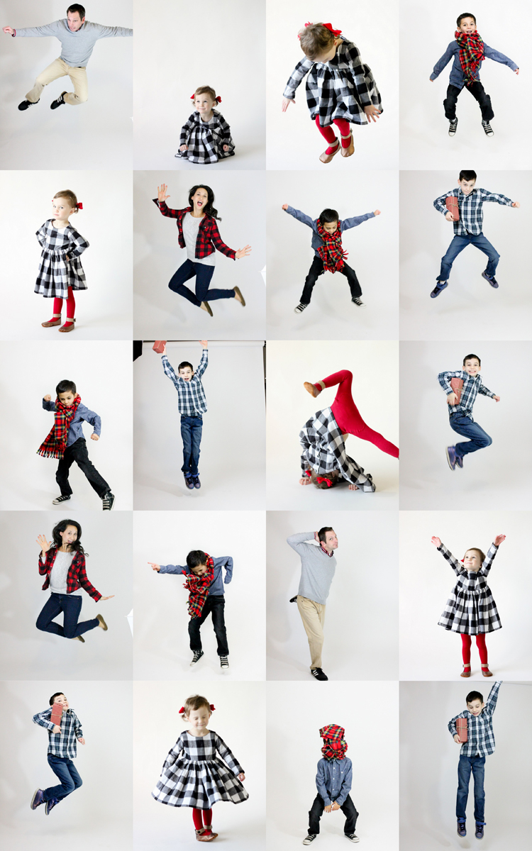 Family Bunting Christmas Card // Delia Creates