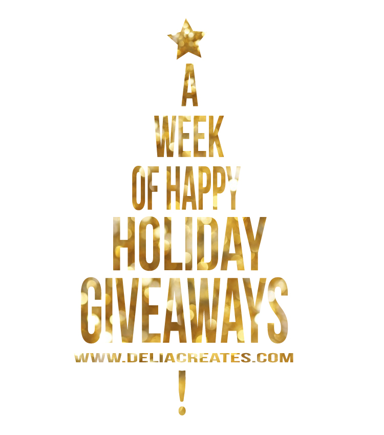 A week of holiday giveaways at www.deliacreates.com!